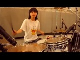 Incredible Hard Rock Drummer Girl KILLS on Drums!! Wow wow!