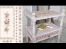 How to shabby chic a furniture Chalk painted Pink vintage table DIY