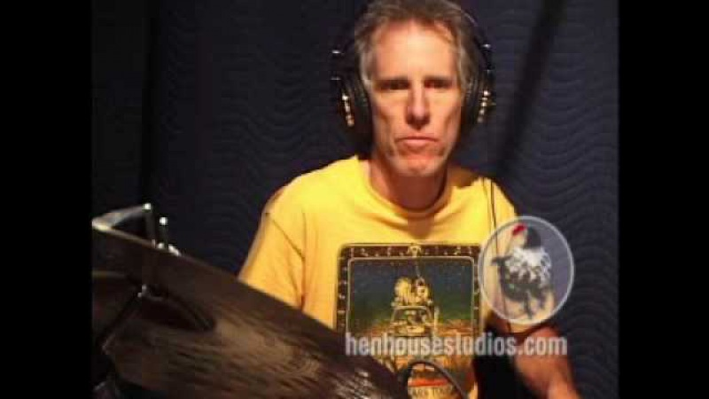 JOHN DENSMORE AND MICHAEL C FORD AT HEN HOUSE STUDIOS