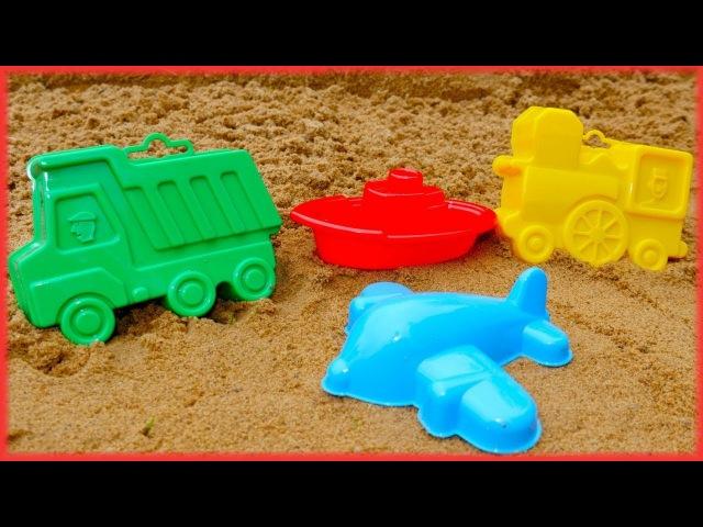 Impariamo i colori insieme- Giochi sulla spiaggia con la sabbia- Video educativi per bambini