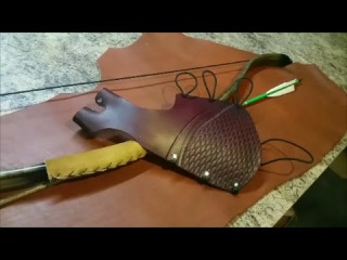 Making a Full Length Arm Guard and Bow Hand Glove