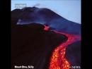 Извержение вулкана Этна, Италия (Апрель 2017).