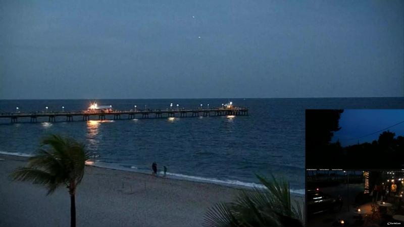 НЛО возле Майами (Ночной океан) НЛО над Бермудским треугольником Около Маями Бич