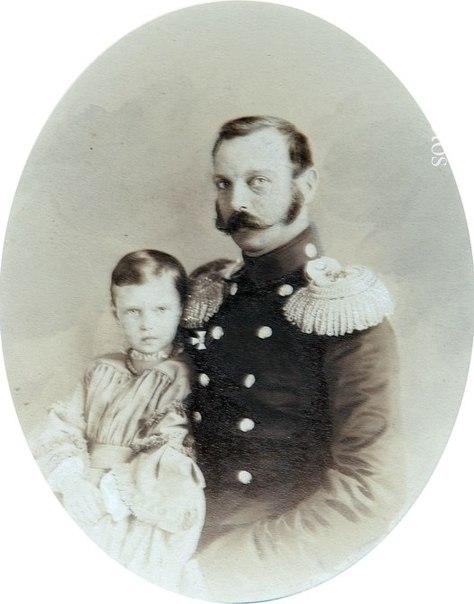 Император Александр II с дочерью Марией конец