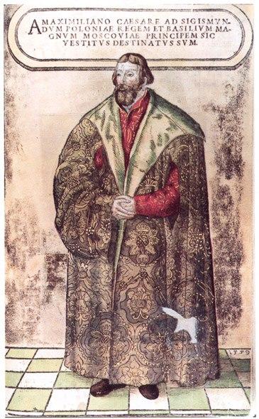 Сигизмунд Герберштейн в русском платье. Гравюры из