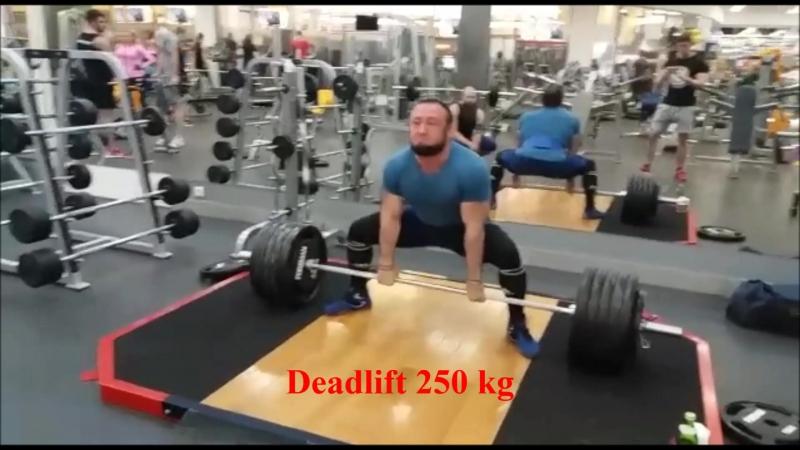 Deadlift 230-250-260 kg (Маруф Сабиров)