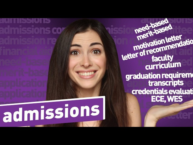 ENGLISH VOCABULARY FOR ADMISSIONS financial aid, requirements