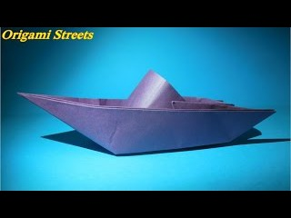 Как сделать катер из бумаги. Оригами катер