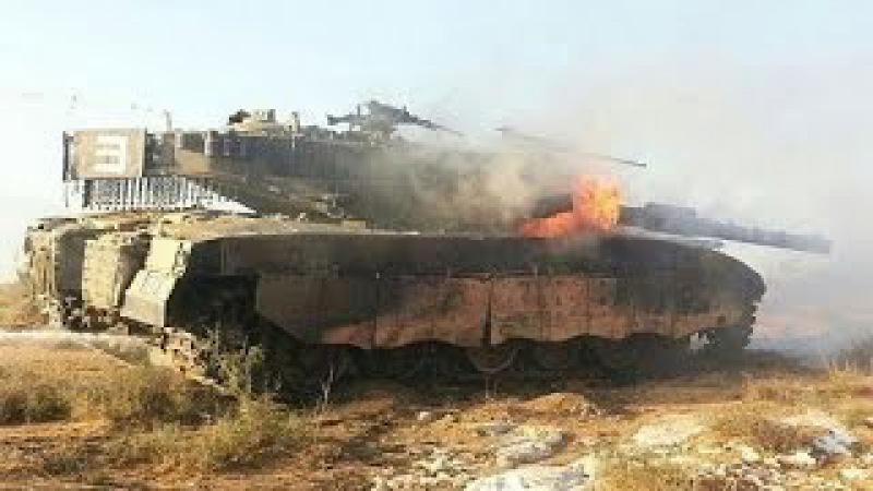 Подбитые танки Меркава
