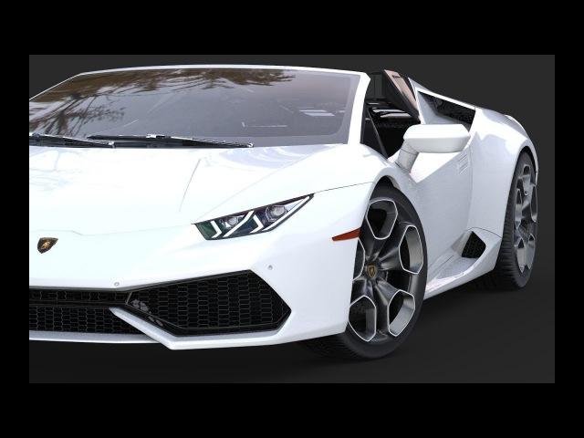 3Ds Max Modeling | Lamborghini Huracan Spyder