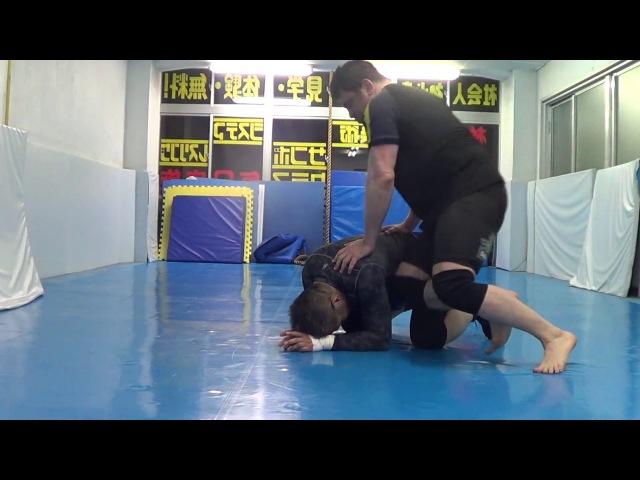Legit Turtle Attacks into FUNNY but Legit Sakuraba YURIKAMOME Catch Jitsu Wrestling Jiu-jitsu