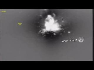 مشاهد تدمير عتاد قتالي لتنظيم داعش الارها&#15