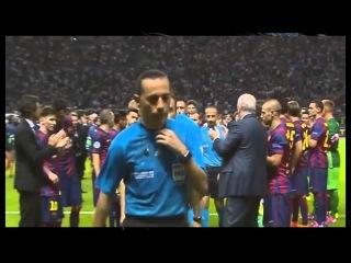 Награждение в финале Лиги Чемпионов. Viva Barca! (The award in final of the Champions League.)
