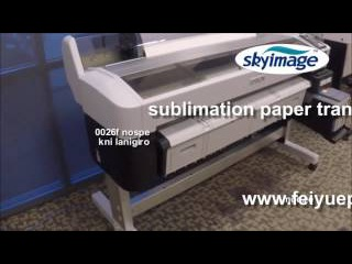 Sublimacao Epson Surecolor F6200 com transferencia de papel de sublimacao em poliéster