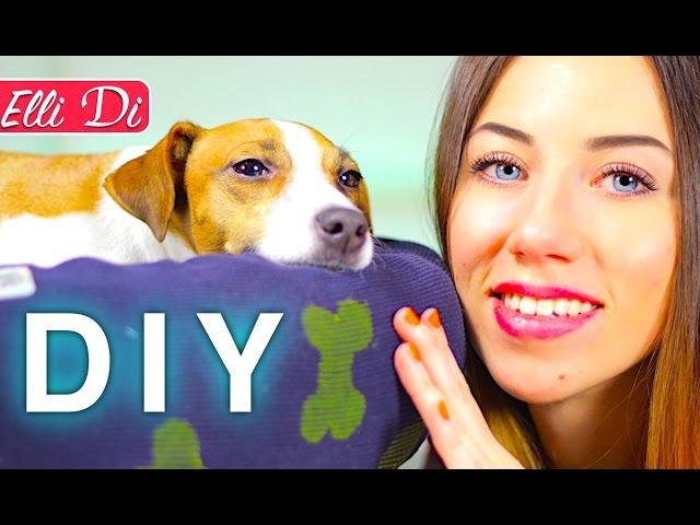 DIY - КАК СДЕЛАТЬ ПЫШНЫЙ ЛЕЖАК ДЛЯ СОБАКИ И КОШКИ - ЭЛЛИ ДИ СВОИМИ РУКАМИ | Elli Di Pets