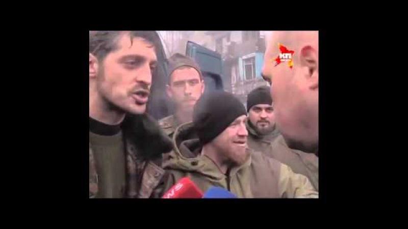 ДНР и ЛНР (Ополчение, Новороссия) 'Моторола и Гиви' в Аэропорту взяли в плен укропов