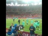 Криштиану Рональду выходит на поле перед матчем Россия - Португалия !