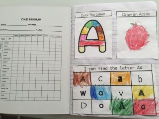 Alphabet Interactive Notebook for Preschool/Kindergarten teach letters and letter sounds