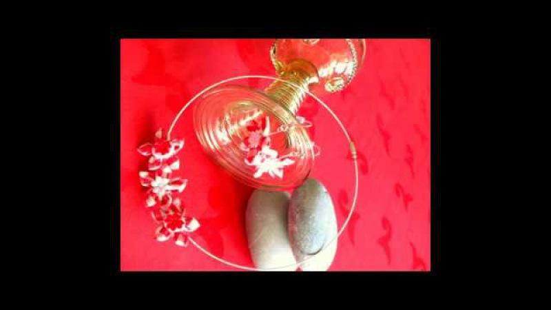 Hand made necklace/necklace/kanzashi necklace/fabric jevellery/náhrdelník snadno a rychle
