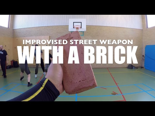 BRICK vs Knife (Improvised Weapon) - Silat Suffian Bela Diri