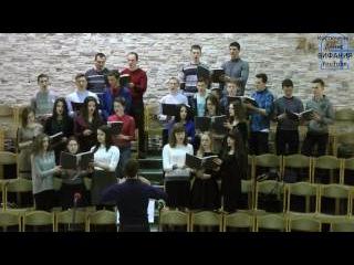 Славлю подвиг Христа хор 18.02.2017 церковь Вифания