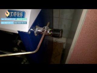 Монтаж твердотопливного котла 12 кВт и Вытяжного зонта