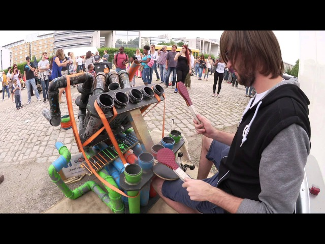 Awesome Pipe-Drummer   PipeDrumz   Neon Pipe Drummer