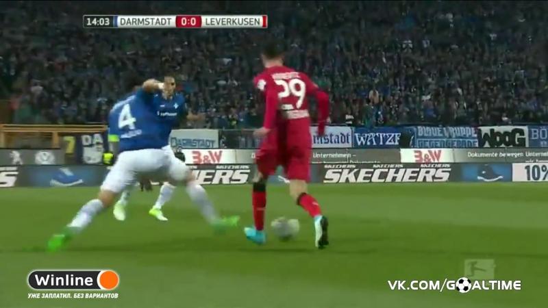 ГолТВ рф Дармштадт Байер 0 2 Обзор матча Германия Бундеслига