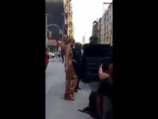 Gigi leaving her apartment in New York, June 26th.