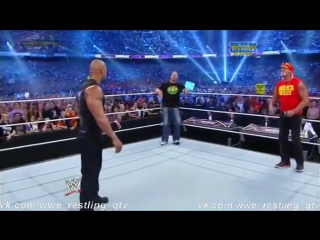 [WWE QTV]Реслмания XXX]☆[30]WrestleMania XXX]Hulk Hogan Stone Cold[Steve Austin] and The Rock]Начало Шоу[