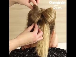 Еще один вариант для бантика из волос. Нравится