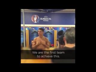 Мотивационная речь Роналду после финала Евро-2016