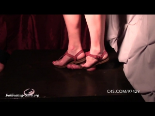 Mistress Ivy's Hard Sandal Cock Crush / Cock Trampling / Shoejob / Foot Fetish