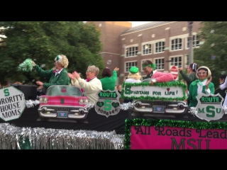 Msu homecoming parade 2016, sorority house moms