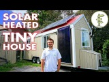 Living in a Tiny House Heated with FREE Solar Power - Tour & Interview