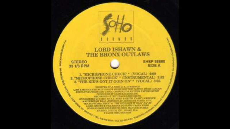 LORD ISHAWN THE BRONX OUTLAWS - MICROPHONE CHECK ( rare 1992 NY rap )