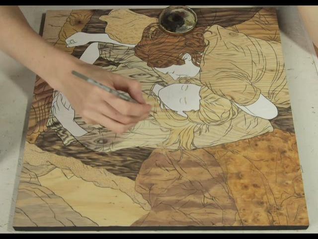 Woodgrain by mioke (making of)