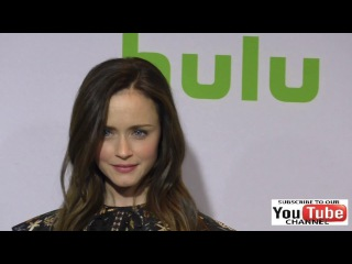 Alexis Bledel at the 2017 Winter TCA Tour Hulu TCA Winter Press Tour Day at Langham Hotel in Pasad