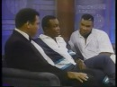 Muhammad Ali, Sugar Ray Leonard and Mike Tyson on Talk Show in 1990
