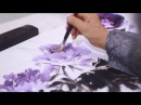 How To Painting Purple Peony in Chinese Watercolor