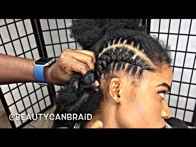 209 FEED IN BRAIDS WITH OMBRE HAIR