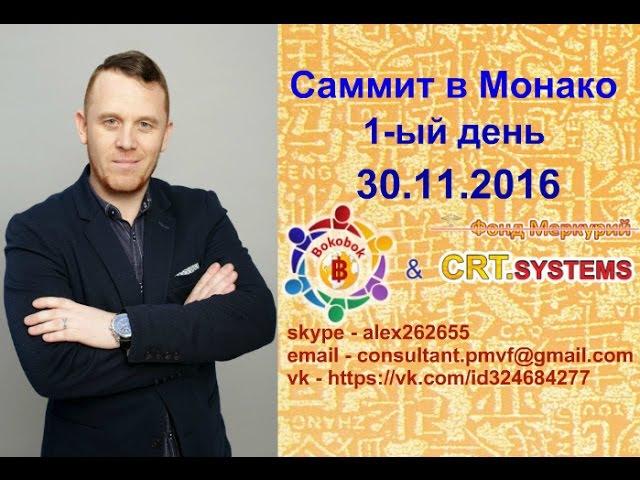 Саммит в Монако день 1 ый Выступление Дмитрия Васадина 30 11 2016 Александр Ермилов