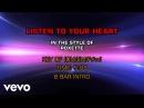 Roxette Listen To Your Heart Karaoke