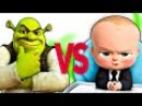 БОСС МОЛОКОСОС VS ШРЕК | СУПЕР РЭП БИТВА | Boss Baby ПРОТИВ Shrek cartoon