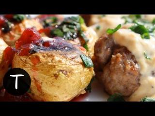 Приготовление Фрикаделек с Картошкой в Сливочном Соусе