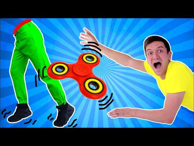 Spinner Fidget Неудавшийся Трюк со Спинером Фиджет Спинер Трюк SPINNER SPLIT DAD