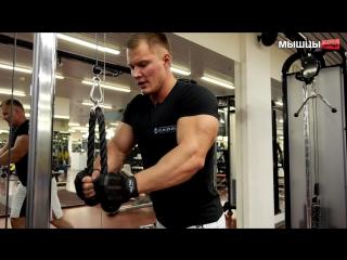 Накачать бицепс и трицепс Тренировка рук от чемпиона