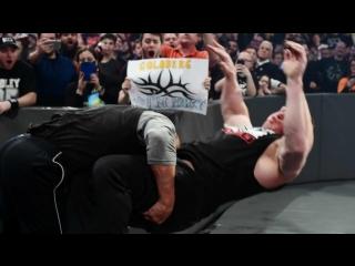 РУС.: 545TV WWE RAW: Голдберг встречается с Броком Леснаром лицом к лицу перед WrestleMania 33 -