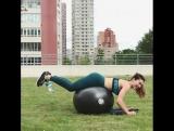 Вчера презентовала свою новиночку #фитбол! А сегодня показываю вам бодрейшую тренировку на все тело 💪🔥_____✖ Разминка - 5мин✖