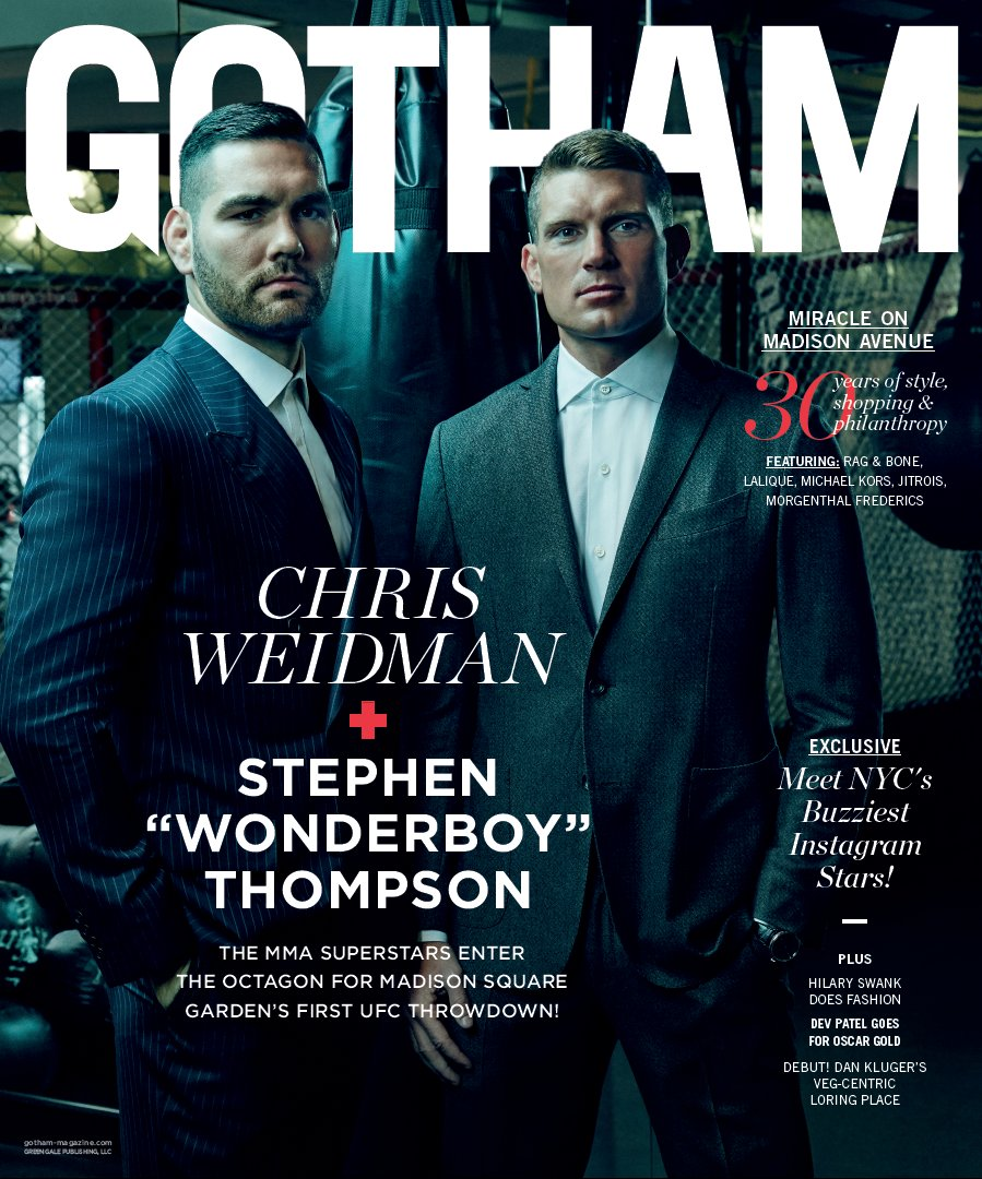 Крис Вайдман и Стивен Томпсон на обложке Gotham Magazine